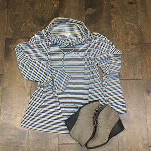 (3 for $30)Talbots medium top striped cowl neck